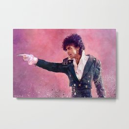 The Purple Rain of Prince Metal Print