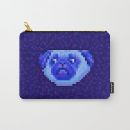 pixel pug blue Carry-All Pouch