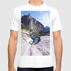 Glacier Walk White MEDIUM Mens Fitted Tee