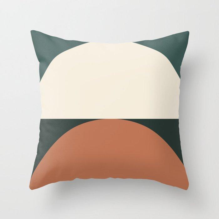 Abstract Geometric 01E Throw Pillow