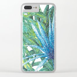 Philodendron & Flora Clear iPhone Case