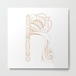 Fancy R Metal Print
