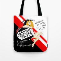 bioshock Tote Bags featuring Bioshock - Jasmine Jolene by Chimaera Designs