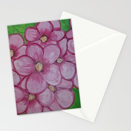 Pink Flowers II Stationery Cards