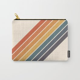 Arida -  70s Summer Style Retro Stripes Carry-All Pouch