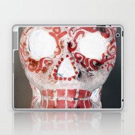 Red and White Sugar Skull Laptop & iPad Skin