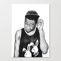 tyler the creator Canvas Prints featuring Tyler the Creator by Rui Faria