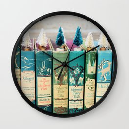 Christmas in Green Wall Clock