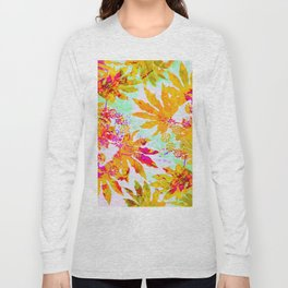 Tropical Adventure - Neon Orange, Pink and Mint Long Sleeve T-shirt