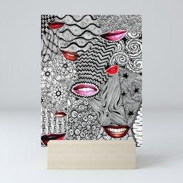 Tangled Lips Mini Art Print
