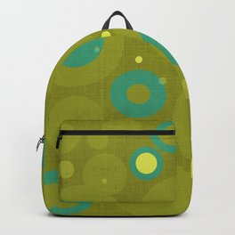 """""""Retro Dots Colorful"""" (Olive & Teal) Backpack"""