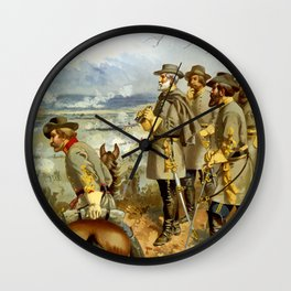 General Lee At The Battle Of Fredericksburg Wall Clock