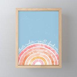 That's Where You'll Find Me, Retro Rainbow Print Framed Mini Art Print