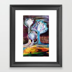 Night Is A World Lit By Itself Framed Art Print