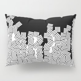 Minimalist black / White geometric Pillow Sham
