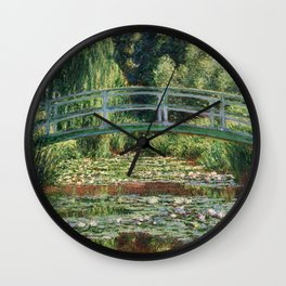 The Japanese Footbridge and the Water Lily Pool by Monet Wall Clock