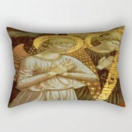 1459 Benozzo Gozoli - Angels (detail) Rectangular Pillow