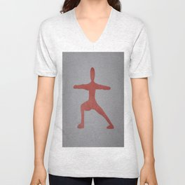 Screenprinted Yoga Art: Warrior - Wild Veda Unisex V-Neck