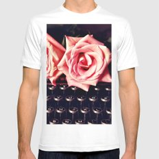 Love Letter White Mens Fitted Tee MEDIUM