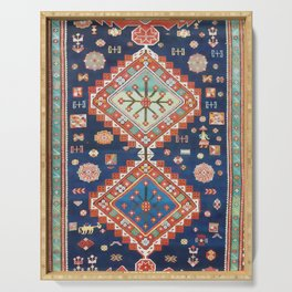 Kazak Vintage Caucasian Rug Print Serving Tray