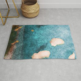 stained fantasy cloud day Rug