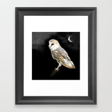 The Owl and the Moon Framed Art Print