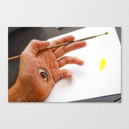 Through the Hand Canvas Print