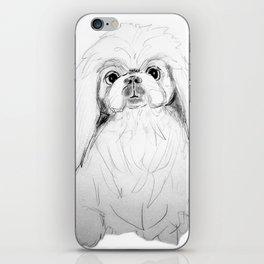 Cartoon Pekingese Dog iPhone Skin