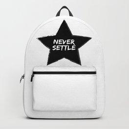 Never Settle Backpack