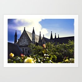 Church gardens Art Print