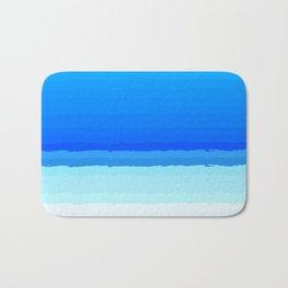 blue lines pattern shaded Bath Mat