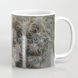 Monochrome Cactus in Joshua Tree National Park, California Coffee Mug