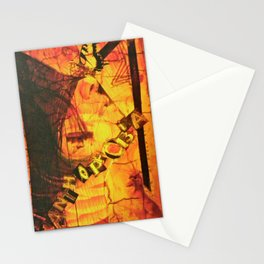 Fear Yellow Stationery Cards