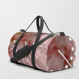 Line and pink Duffle Bag