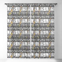 MRVN lives matter Sheer Curtain