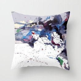Acyrlic meets digital Throw Pillow
