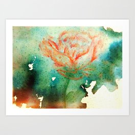Underwater Flower Art Print