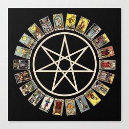 Fairy Star & Tarot Circle Canvas Print