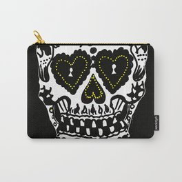 Sugar Skull - Black and White Carry-All Pouch