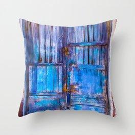 Old Door,Santorini Throw Pillow