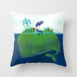 Mermaid & Big Blue Throw Pillow