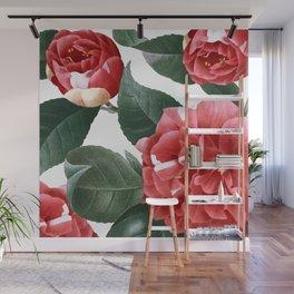 RED FLOWERS - digital Wall Mural