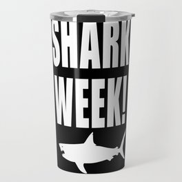 Shark week (on black) Travel Mug