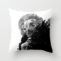 tooth Throw Pillows featuring Tooth Fairy by Ana Gomes