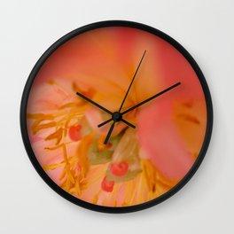 Peachy pink peonies I Wall Clock
