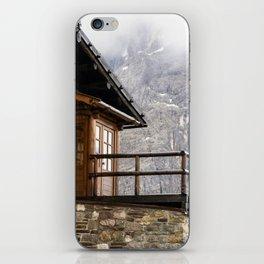 Alpine hut (chalet) iPhone Skin