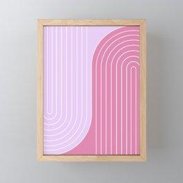 Two Tone Line Curvature VI Framed Mini Art Print