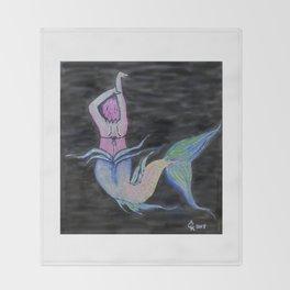 Mermaid You Look Throw Blanket