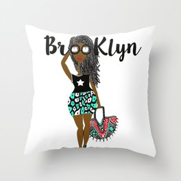 dreads has Brooklyn Glasses Throw Pillow