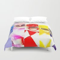 power rangers Duvet Covers featuring Power Rangers by americanmikey